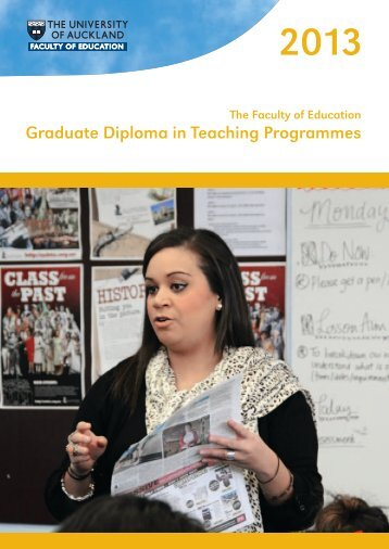2013 Graduate Diploma in Teaching Programmes - Faculty of ...