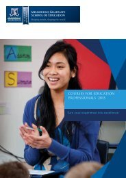 courses for education professionals 2013 - Melbourne Graduate ...