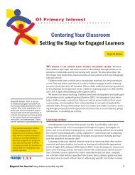 Centering Your Classroom - National Association for the Education ...