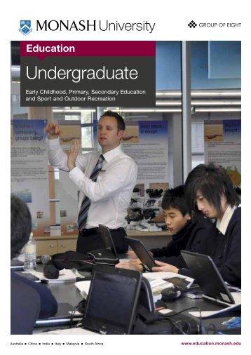 Undergraduate - Faculty of Education - Monash University