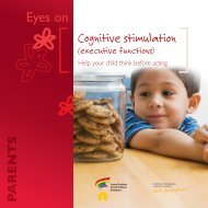 Eyes on: Cognitive stimulation (executive functions): Help your child ...