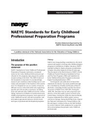 NAEYC Standards for Early Childhood Professional Preparation ...