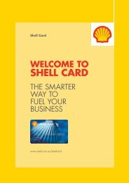 getting started with shell card