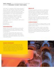 SHELL GADuS® IS A COMPREHENSIvE FAMILY OF GREASES ...