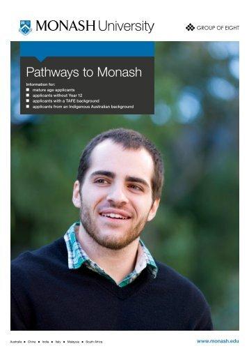 Pathways to Monash - Monash University