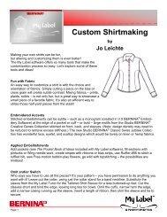 Custom Shirtmaking.pub - My Label 3D Fashion Pattern Software