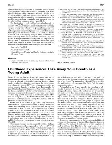 Childhood Experiences Take Away Your Breath - American Journal ...