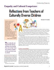 Reflections from Teachers of Culturally Diverse Children - National ...
