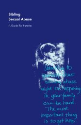 Sibling Sexual Abuse: A Guide for Parents (PDF