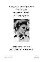 Elizabeth Bishop - Aoife's Notes