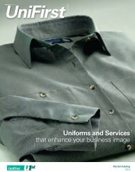 Uniforms and Services that enhance your business image - UniFirst