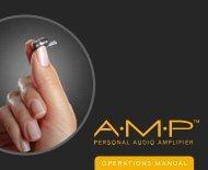 AMP Operations Manual - StarkeyPro.com
