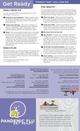 Pandemic Flu: Get Ready Brochure - Colorado.gov