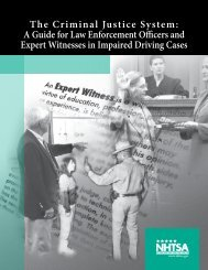The Criminal Justice System: A Guide for Law Enforcement ... - NHTSA