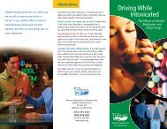 Driving While Intoxicated - Missouri Department of Transportation