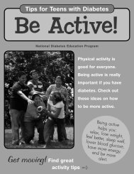 Be Active! Tips for Teens with Diabetes - National Diabetes ...