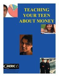 teaching your teen about money - Missouri Economic Research and ...