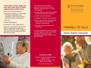 SUH Home Safety Brochure 2.indd - Stanford Hospital & Clinics