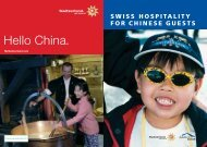 Swiss hospitality for chinese guests - Ch.ch