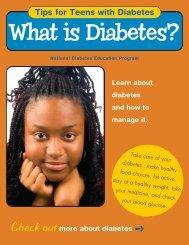 Teen Tips - What is Diabetes - National Diabetes Education ...