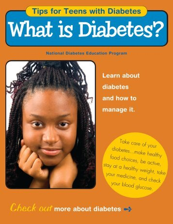 Teen Tips - What is Diabetes - National Diabetes Education ...