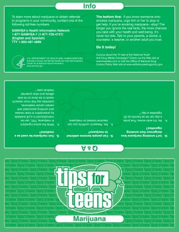 Tips for Teens-Marijuana - Samhsa