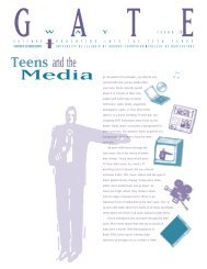 Gateway 12: Teens and the Media - College of Agricultural ...