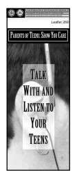 talk with and listen to your teens - University of Maryland Extension