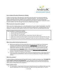 How to Address Reassurance-Seeking in Your Child, - AnxietyBC