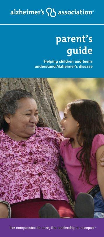 Helping Children and Teens Understand Alzheimer's Brochure