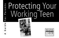 Protecting Your Working Teen - SafetyWorks!