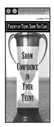 show confidence in your teens - University of Maryland Extension