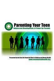 Parenting your teen.PDF - Teen Mental Health