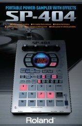 Quick and Easy Sampling Create Your Own Tracks More ... - Roland