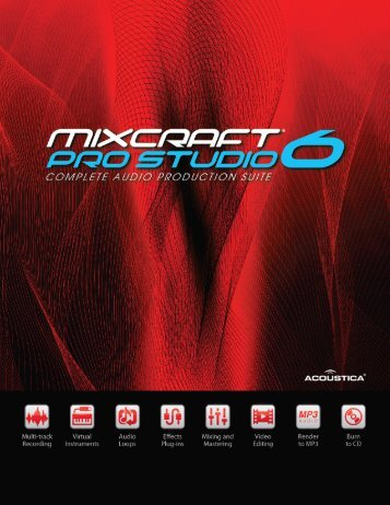 Mixcraft pro studio 6 includes a total of - Acoustica
