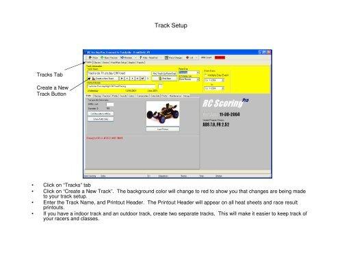 Track Setup - RC Scoring Pro