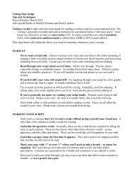 Voicing Your Script Tips and Techniques Karen Schaefer, March ...