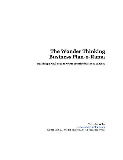 The Wonder Thinking Business Plan-o-Rama