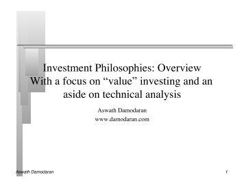 Investment Philosophies: Overview With a focus on ... - CFA Institute
