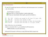 I/O Basic I/O Instructions IN and OUT transfer data between an I/O ...