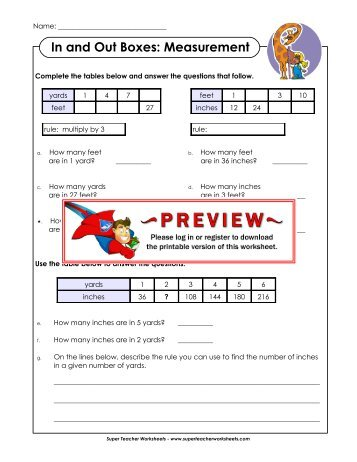 and Out Boxes: Measurement - Super Teacher Worksheets