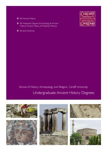 Undergraduate Ancient History Degrees - Cardiff University