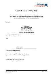 Lieferanten-Rahmenvertrag-Gas - Stadtwerke Neckargemünd