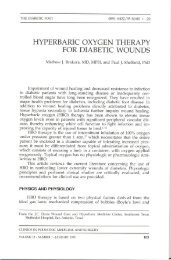 HYPERBARIC OXYGEN THERAPY FOR DIABETIC WOUNDS
