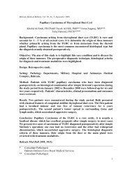 papillary carcinoma in a athyroglossal cyst—a case - Bahrain ...