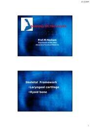 Surgical anatomy of the larynx