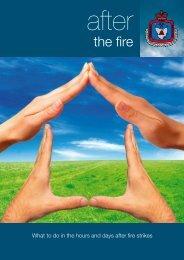 After the fire (PDF 1.7MB) - Tasmania Fire Service