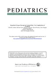 Hyperbaric Oxygen Therapy for Cerebral Palsy: Two ... - Pediatrics