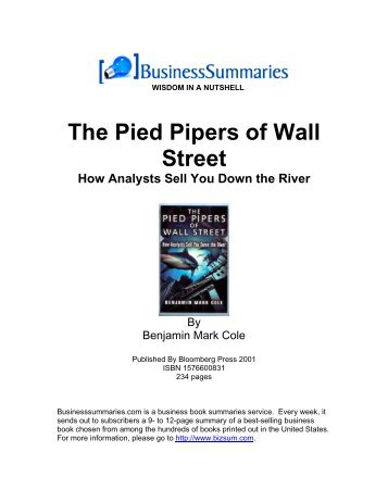 The Pied Pipers of Wall Street - itworkss