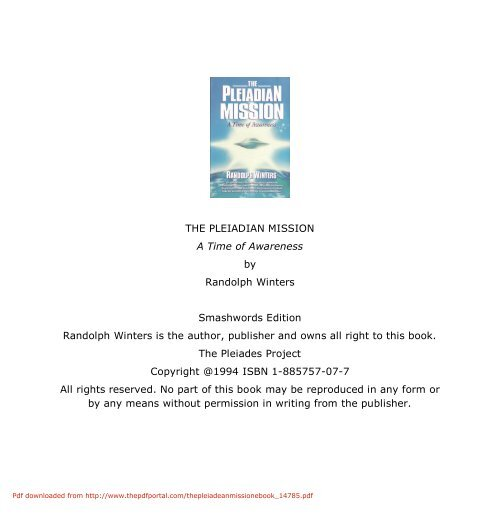 THE PLEIADIAN MISSION A Time of Awareness     - Free PDF hosting